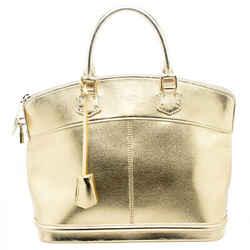 Louis Vuitton Gold Suhali Leather Lockit MM Bag