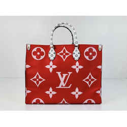 Louis Vuitton Limited Edition Giant Monogram Onthego GM in Red and Pink Tote Shoulder Handbag