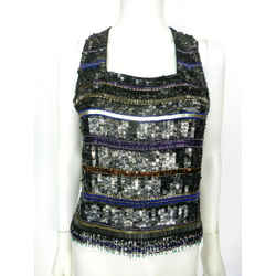 Parker Multi-color/silver Sequin Top Sz Med Eu 42