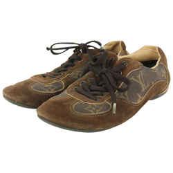 Louis Vuitton Women's Size 36 Brown Monogram Suede Energie Sneaker 916lv98