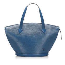 Vintage Authentic Louis Vuitton Blue Epi Saint Jacques PM Short Strap France