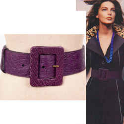 70/28 Vintage $890 SAINT LAURENT Runway 2005 Embossed Leather WIDE Waist BELT