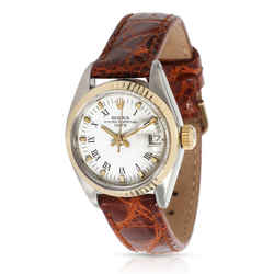 Vintage Rolex Date 6917 Women's Watch in 14kt Yellow Gold/Steel