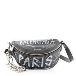 Graffiti Souvenir Belt Bag Leather XXS