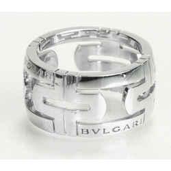 BVLGARI Parentesi White Gold Open Work Ring Size 6