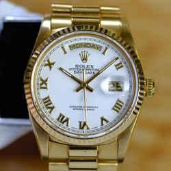 Rolex Daydate 18K 36mm White Roman Dial 36mm Watch-ALL FACTORY