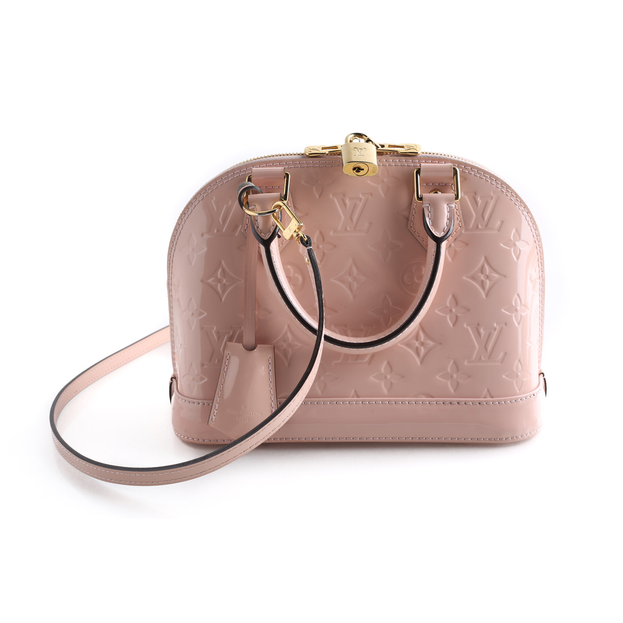 Louis Vuitton Rose Ballerine Monogram Vernis Alma Bb Leprix
