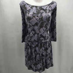 Soft Joie Purple Printed Dress Small
