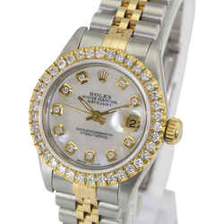 Rolex White Mop Lady Datejust Diamond Dial Diamond Bezel 26mm-quickset Watch