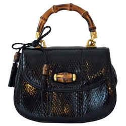 Bambu Special Edition Black Python Cross Body Bag