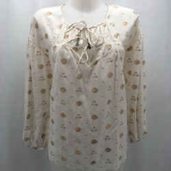 Joie Ivory Metallic Blouse Small