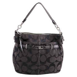 "Coach Monogram Shoulder Bag 12""L x 11.5""H x 2.5""W"