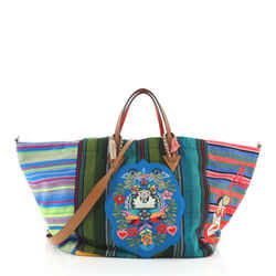 Caba Tote Motif Embroidered Jacquard Large