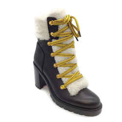 Christian Louboutin Black/Cream Yetita Boots