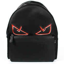 Fendi - New - Mens Monster Eyes Backpack - Black Red Fabric Leather Zip Bag