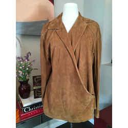 Ralph Lauren Brown Suede Blouse Top Shirt 2676-2-101020