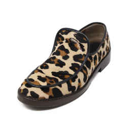Marni Neutral Animal Print Loafers 38