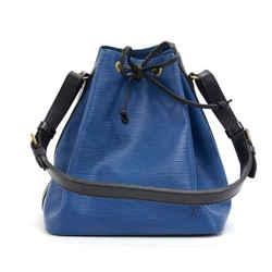 Vintage Louis Vuitton Petit Noe Vio Blue x Black Epi Leather Shoulder Bag LP875