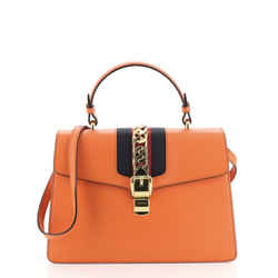 Sylvie Top Handle Bag Leather Medium