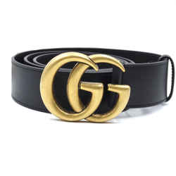 Gucci Black Marmont GG Grained Leather Size 105/42 Belt