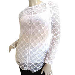 Auth Isabel Marant White Lace Top, Blouse, Size S, Eu 38