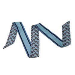 Fendi Blue Print Silk Scarf