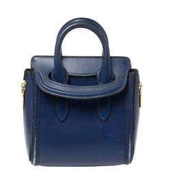 Alexander McQueen Blue Leather Mini Heroine Bag