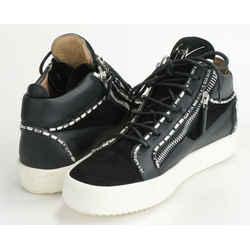 Giuseppe Zanotti Jewel Trim High-Top Sneakers