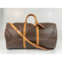 Louis Vuitton Monogram Keepall Bandouliere 60 Travel Duffle Bag