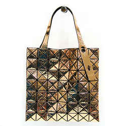 Issey Miyake BAOBAO BB63-AG132 Women's Leather Tote Bag Gold BF517852