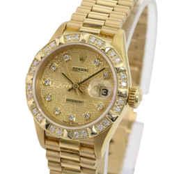 Rolex Ladies Datejust 18k Yellow Gold 69178 Factory Jubilee Diamond Dial Bezel