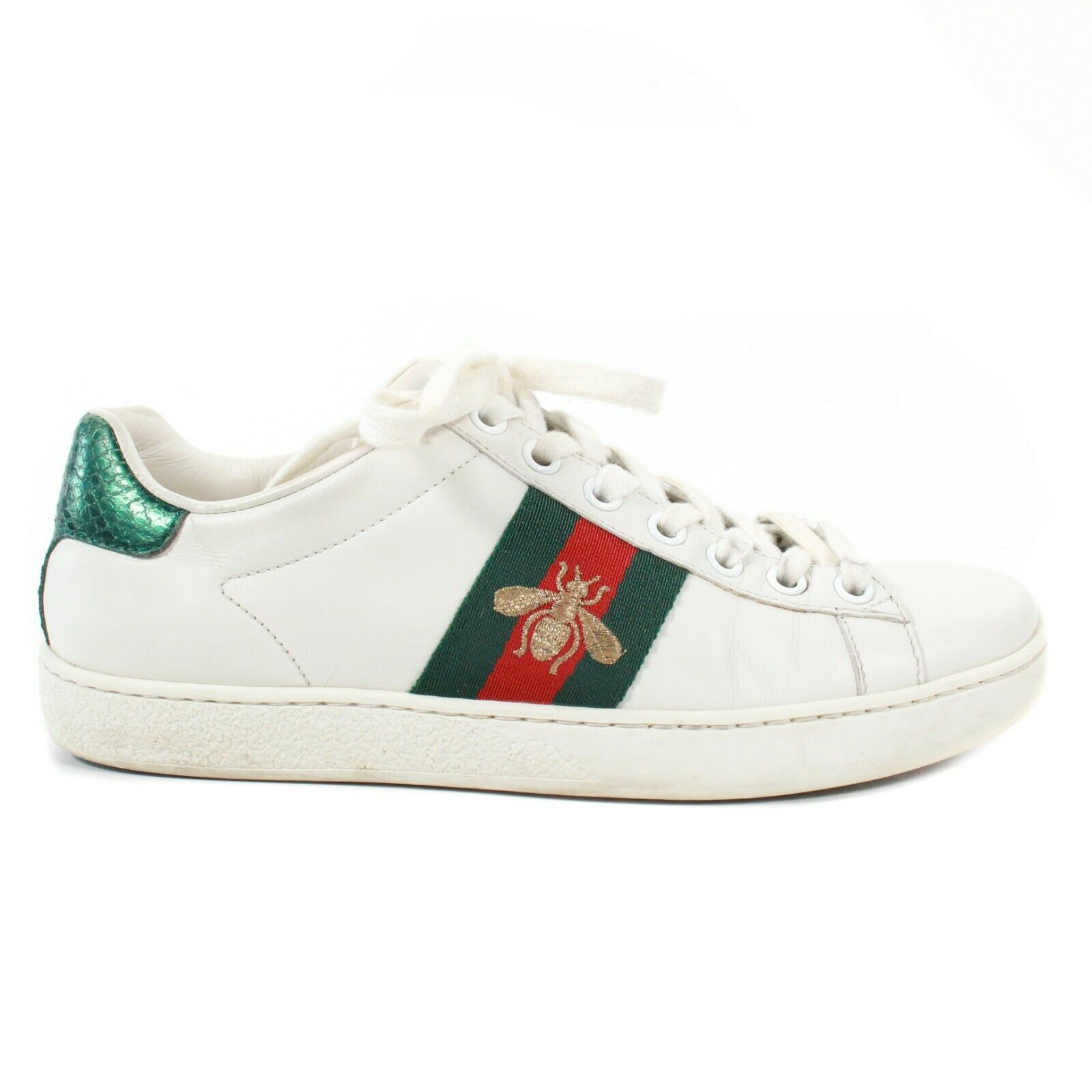 Gucci - Ace White Leather Sneakers