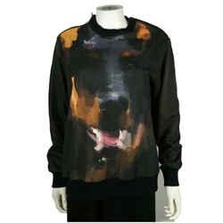 Givenchy - Rottweiler Sweatshirt - Black Shoulder Zips - Crewneck Xs Extra Small
