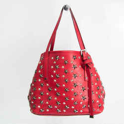 Jimmy Choo Sasha S Women's Leather Studded Tote Bag Red Color BF530758