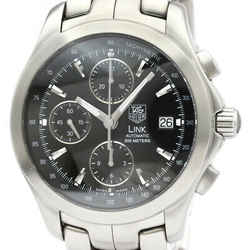 Polished TAG HEUER Link Chronograph Steel Automatic Mens Watch CJF2110 BF516840