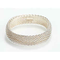 Tiffany & Co Somerset Mesh Bangle Bracelet