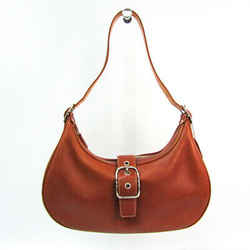 Coach 7592 Women's Leather Shoulder Bag Brown BF520745