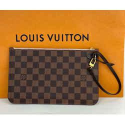 Louis Vuitton POCHETTE Damier Ebene Wristlet, Clutch Bag from NEVERFULL A669
