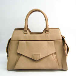 Proenza Schouler PS13 Women's Leather Handbag,Shoulder Bag Beige BF521235