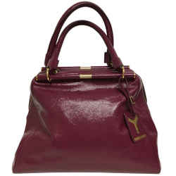 "Saint Laurent Majorelle Medium Fushia Patent Leather Shoulder Bag 11""L x 15""W x 6""H Item #: 25576759"