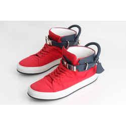 Buscemi Two Tone Padlock High Top Sneakers