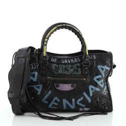 City Graffiti Classic Studs Bag Leather Small