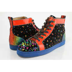 Christian Louboutin Multicolor High-top Spiked Sneakers