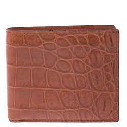 Gucci Orange Crocodile Bifold Wallet