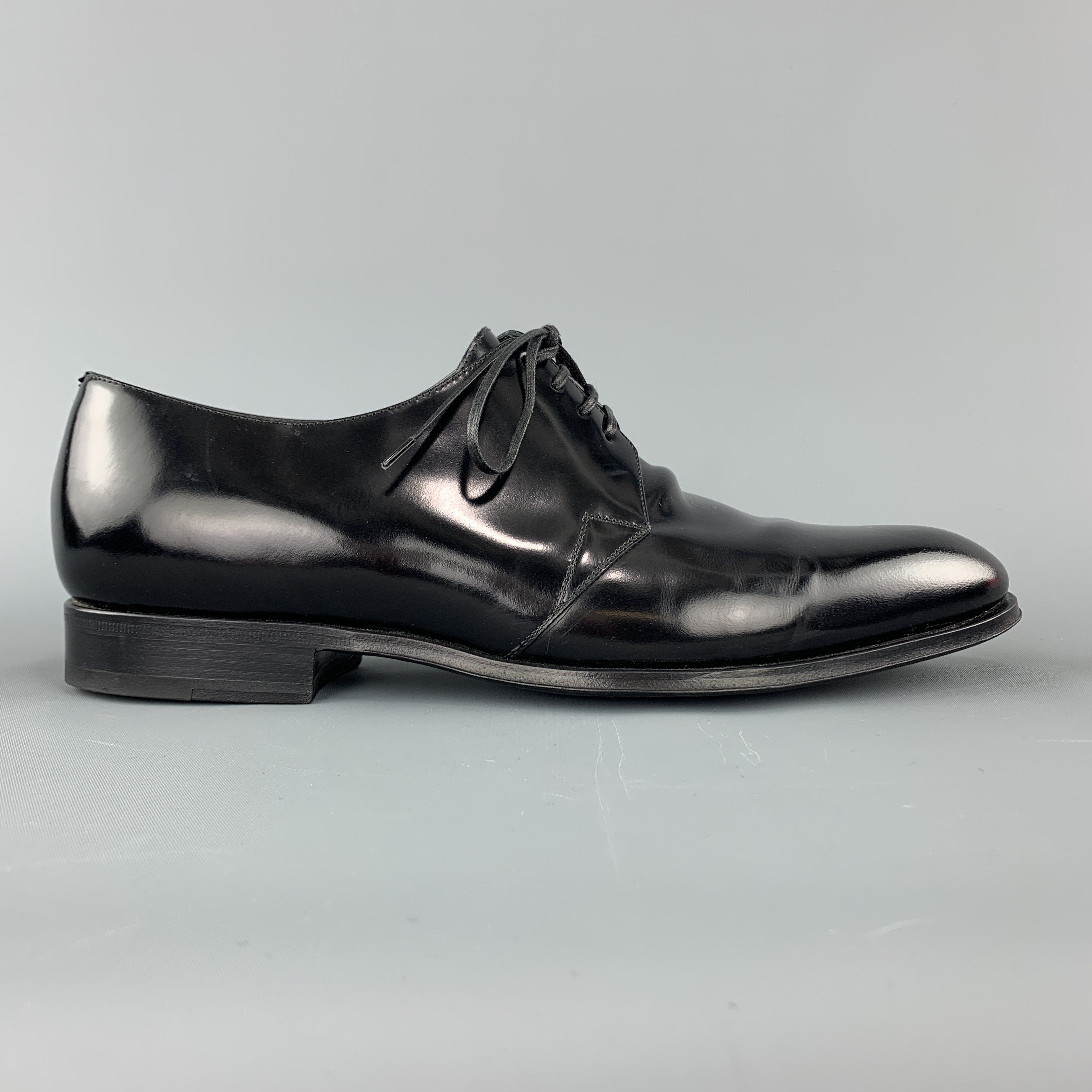 Dior Homme Size 8 Black Pointed Leather