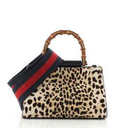 Nymphaea Top Handle Bag Printed Calf Hair Mini