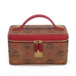 Vintage Authentic MCM Brown Mini Visetos Rockstar Skyoptic Vanity Bag Germany
