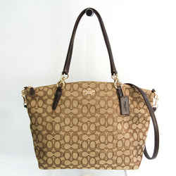 Coach Signature Large Kelsey Satchel F36722 Women's Leather,Canvas Hand BF533506
