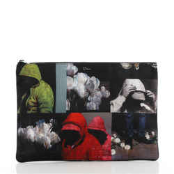 Homme Zip Pouch Printed Nylon Large