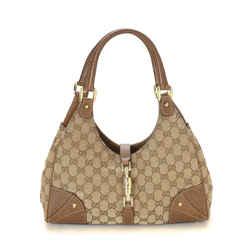 Gucci Gg Canvas Nailhead Bardot Shoulder Bag